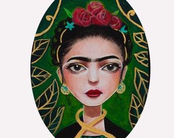 Little Frida, Frida Kahlo big eyes fine art print