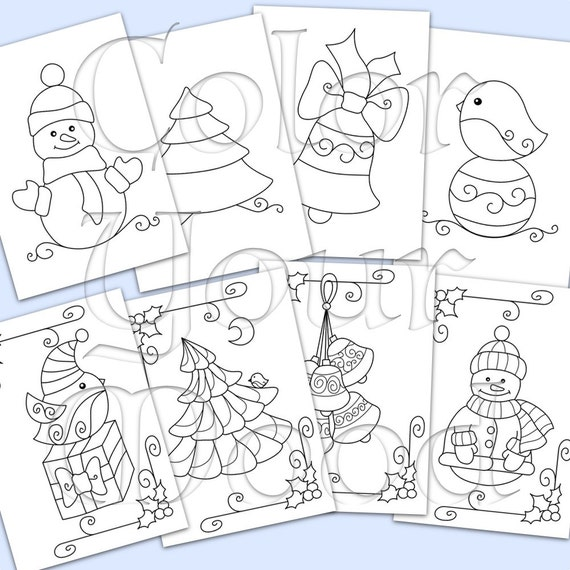 Christmas coloring pages for kids (printable)