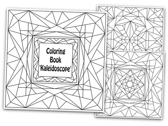 Printable Abstract Coloring Pages Kaleidoscope