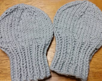 Knitted No Scratch Baby Mittens