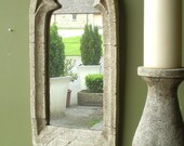 Gothic church window frame arched stone Mirror gothic home decor vintage mirror