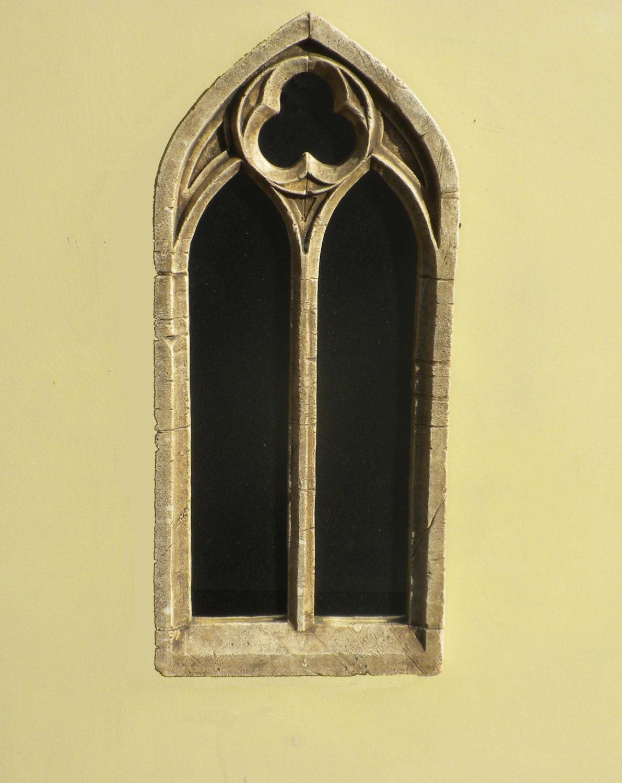 Double Arch Gothic Church Window frame mirrorvintage