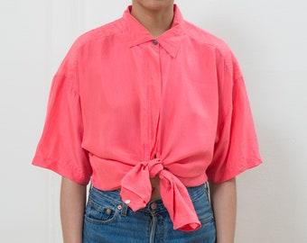 16b8faa9544f3 pink silk shirt large