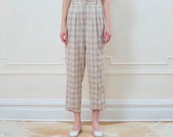 c023b5e980fbf Pastel plaid pants | Etsy