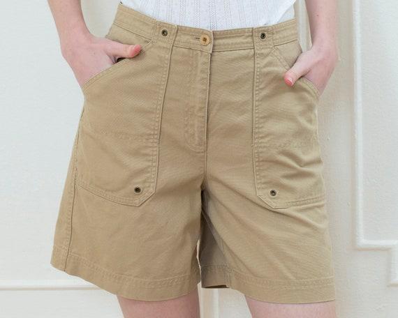 90s khaki high waisted shorts | ralph lauren high