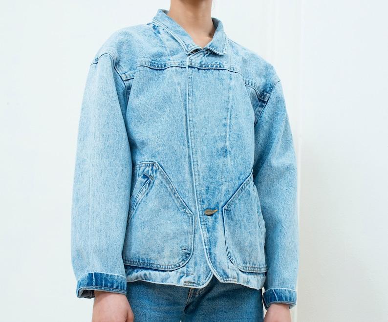 32b5afdf3d4 80s acid wash denim jacket medium acid wash jean jacket