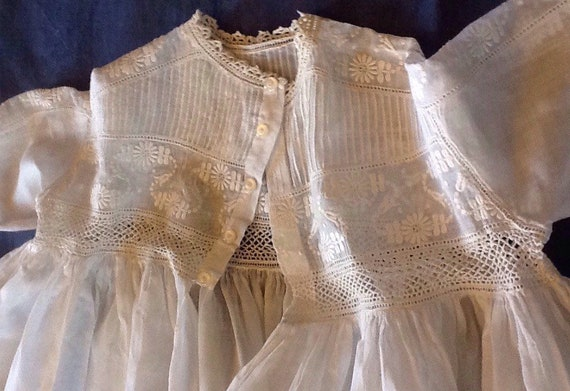 Heavenly antique christening or baptism robe. Anti