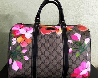 1ab3b475591f6f Custom handpainted Gucci bag...Customer provides the bag!!!