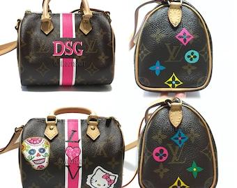 6ce4de24f66e Custom hand painted Mini Louis Vuitton...Customer provide the bag!