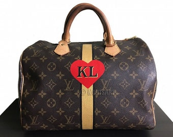 d9a46a549c99 Personalized Monogrammed LV Speedy Keepall Duffle...Customer provide the  bage!