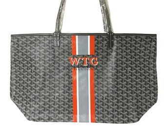 Personalized Monogrammed Goyard Tote...Customer provides the bag!