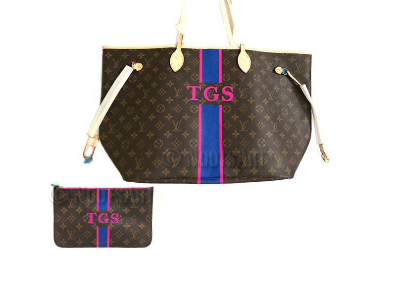a919a2f9ee70 Personalized Monogrammed Louis vuitton Neverfull...This price