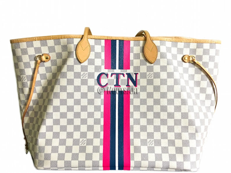 19e71f30b Personalized Monogrammed Louis Vuitton Neverfull...Customer   Etsy