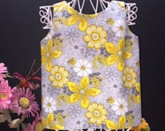 2T Reversible Tulip Top, Strips and Florals