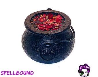 SPELLBOUND Cauldron Bath Bomb in BLACK AMETHYST Scent by Posh Goth