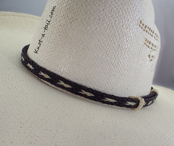 6275362824a Horsehair hat band Elegant Cowboy horsehair hat band No