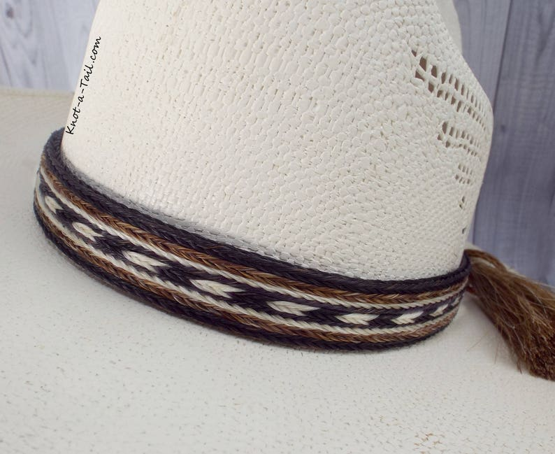 aec55c00496 Hat band Horsehair hat band X-wide 7 Strand BOLD double