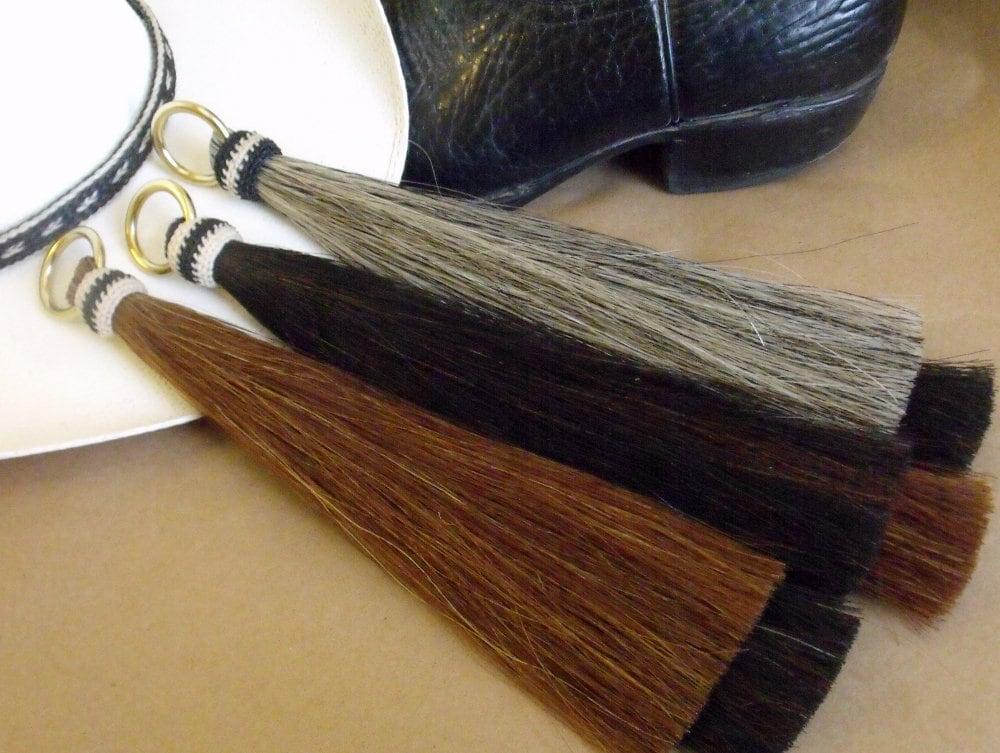 Horsehair tassel, shoo fly tassel, shu fly tassel, girth tassel, horse hair tassel, thick, double layered, Shu Fly, BEAUTY, 6 colors