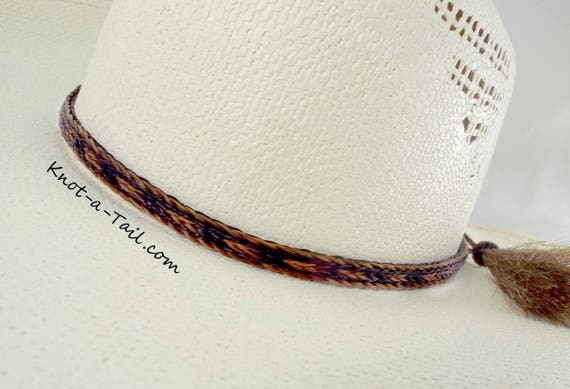 f9f03b00a57 Horsehair hat band Cowboy hat band 3 Strand wide stunning