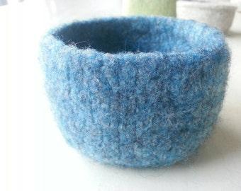 Blue Felted Bowl