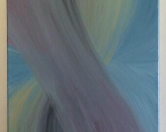 Peinture à l'huile - «Courants à travers le temps»