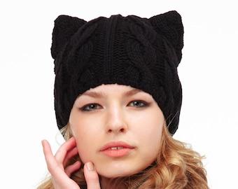 3b49efc7d20bf6 Spring Black Cat Ears Hat