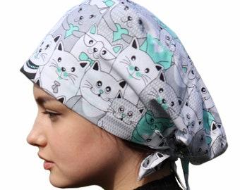 Surgical cap   Scrub caps   Scrub hats   Nurse scrub cap   Scrub cap women   Scrub hat women   Cat scrub cap   Hair cover medical