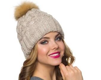 4b5c6c5a7fd Handmade fleece pom pom hat