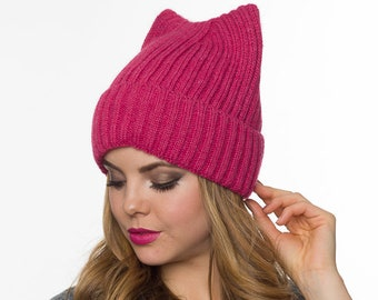 ed26babdd7b5c Pussyhat Fleece lined pussy hat Pink Cat hat Womens March Hat Pussyhat for  Men Unisex pussyhat Cat hat
