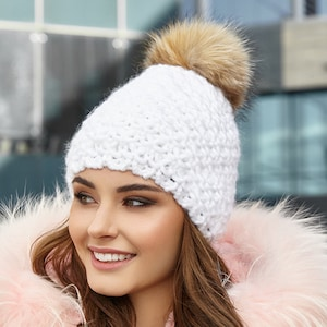 Free Shipping Winter Hat Acessories Pom Pom Hat for Women Gift ideas