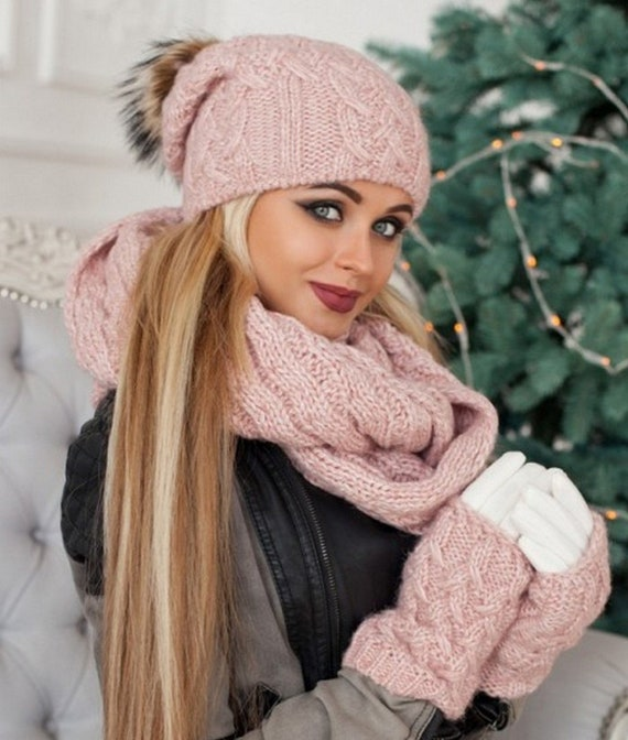 Hat Scarf Gloves Set Hat Scarf Combo Hat Scarf Mittens  ba67a47d4f0