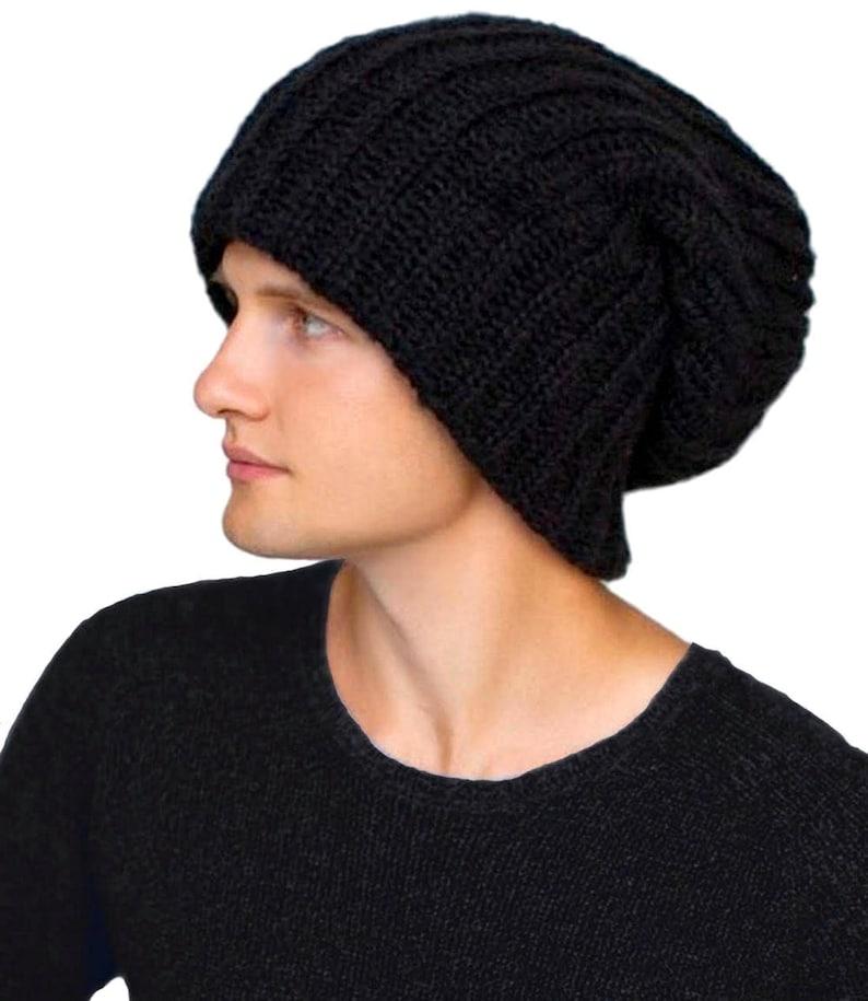 e348d47f6 Slouchy winter hat Dread tam hat Oversized beanie Winter benie hat for  dreads Extra large hat Wool hat women Hat for big head Beige beanie