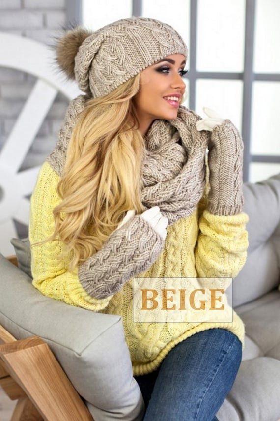 Hat Scarf Gloves Set Hat Scarf Combo Hat Scarf Mittens-Hat  cb2043166d8
