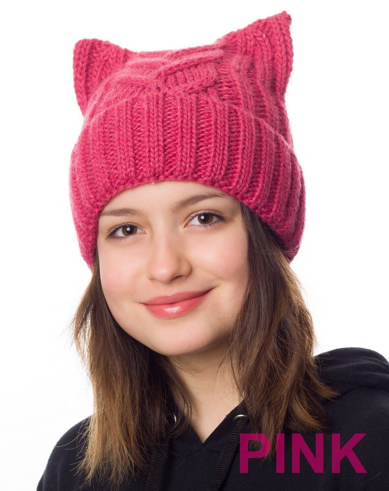 e38f1bd4 Pink pussyhat lined with fleece Pussyhat Pussy hat for | Etsy