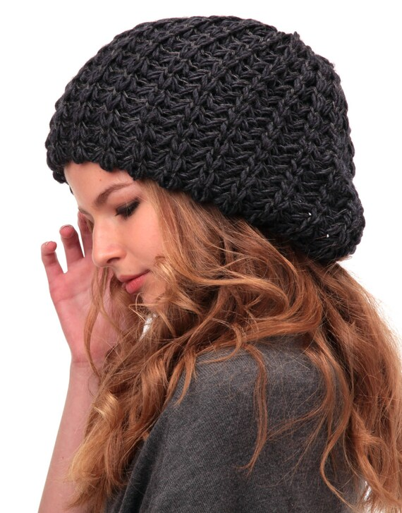 Womens winter hat-Slouchy beanie women-Knitted hat-Oversized  bdbeb74e192