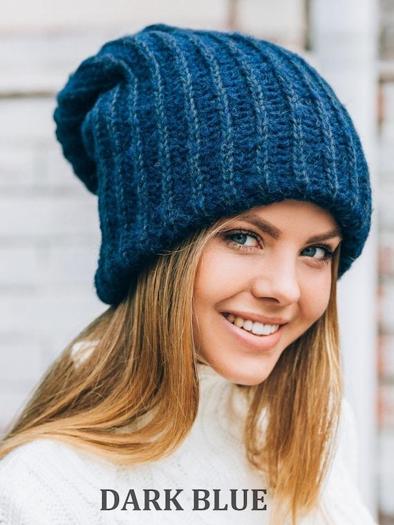 Mens winter hat-Gray Tam-Winter hat for dreadlocks-Gray  e7c4dcda662