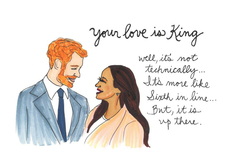 8cf9e985ceb3c Your Love is King - A7 Greeting Card