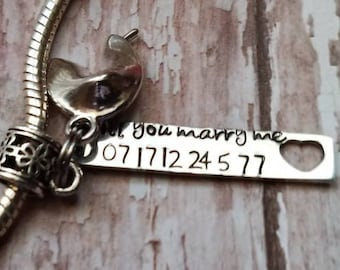 Front Toggle Clasp Unique gift Custom Stamped Solid Sterling Silver Fortune Cookie Locket Necklace Your own Message Choice of Fonts