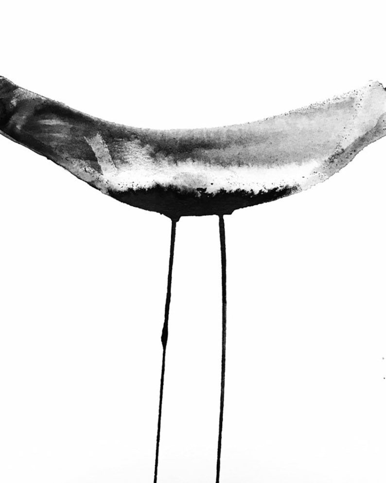 Ink wash original painting  Contemporary / abstract art  image 0