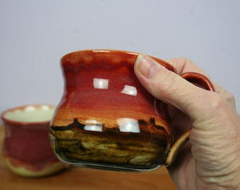 Porcelain Pottery Hand Made Mugs Cups Coffee Cappuccino