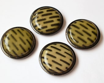 Large Domed Celluloid Buttons 1920s