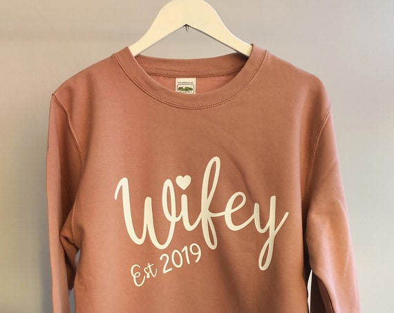 Personalised Womens wifey sweatshirt