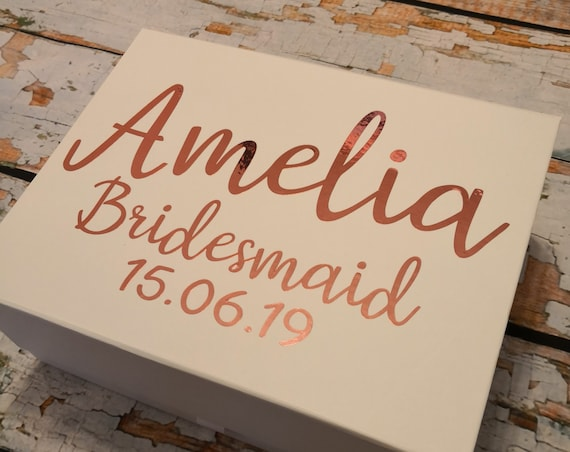 Bridesmaid gift boxes, personalised gift box, keepsake box, maid of honour gift