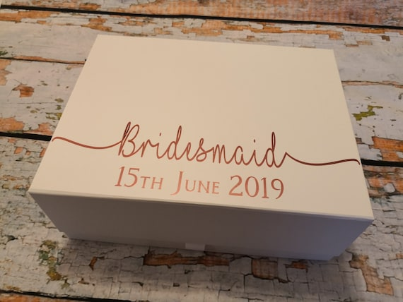 personalised gift box, Bridesmaid gift boxes, keepsake box, maid of honour gift