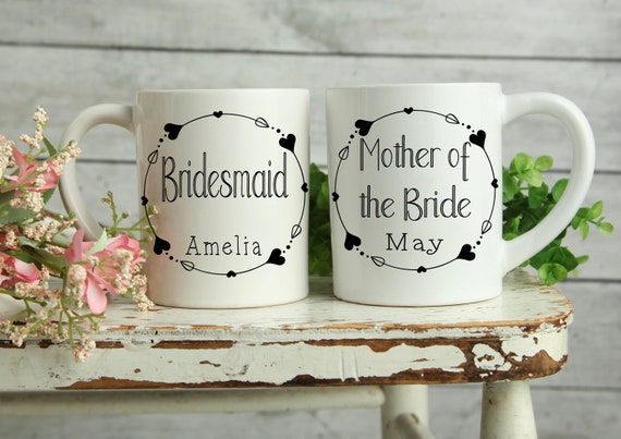 Personalised wedding Mug, Bridesmaid gifts, Bridal Party Mug
