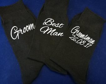 Groom socks, groomsmen socks, personalised wedding socks, best man gifts, groomsman gifts, usher gifts, cold feet socks, Page boy socks