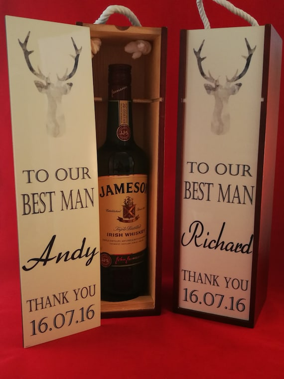 Groomsman gift, wine/whisky gift box, personalised best man gifts
