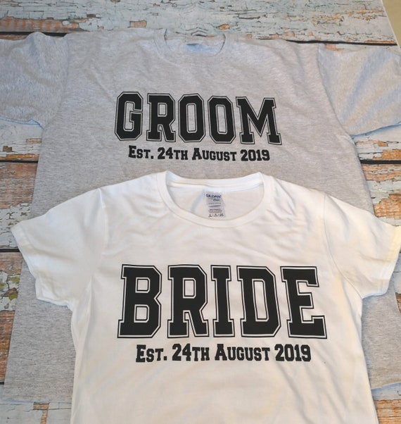 Bride and Groom established T-Shirt, shirt set, Mr and Mrs set, Honeymoon Vibes top