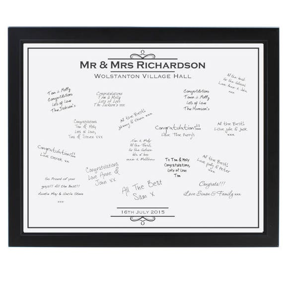 Signing frame, Personalised Guest book, Guest book alternative, Frame guest book, Personalised Guest book, Mr and Mrs gift,  any occasion