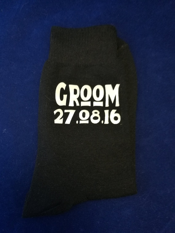 Personalised groom socks, Wedding socks, groomsman gifts, usher gift, personalized wedding socks, Best man socks, cold feet socks